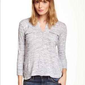 James Perse Gray Button Down Shirt 3 L